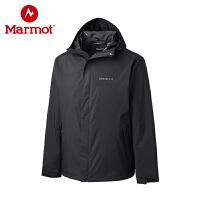 Marmot/土拨鼠2019新款户外100%压胶防水透气男式潮牌冲锋衣
