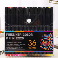 彩色签字笔彩笔学生用手绘针管描边勾线笔36色套装极细0.4mm04031