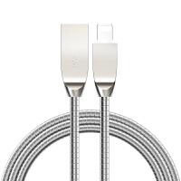 【新品】 iPhone7数据线6s苹果5金属5s手机6Plus高速充电线器SE快充六P 银色-金属数据线