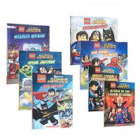进口英文原版【7册】 Lego DC Super Heroes 乐高美国漫威英雄系列绘本闪电侠/绿灯侠/绿巨人/蜘蛛侠/
