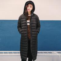 唐狮2016新款冬季羽绒服女中长款可拆卸帽羽绒服加厚外套