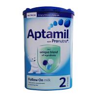 英国Aptamil爱他美婴幼儿配方奶粉2段(6-12个月宝宝 900g)2罐装