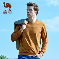 骆驼男装 新款时尚男士套头直筒长袖卫衣青年圆领上衣男