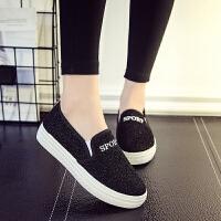 新款秋季老北京布鞋女鞋帆布鞋一脚蹬软底防滑休闲鞋学生鞋女单鞋