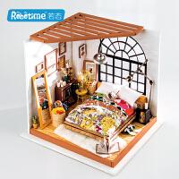 robotime若态 DG107 DIY艺术屋拼装模型.爱丽丝的甜梦卧室当当自营