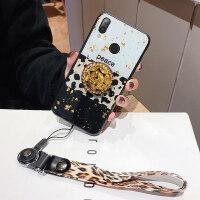 手机壳 红米note7pro手机壳 小米note7硅胶防摔软note6个性创意保护套红 红米note7 白豹纹(支架+