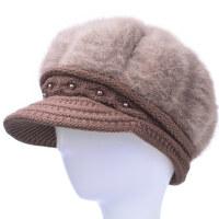 中老年人帽子女冬天棉帽针织老人帽子女奶奶冬季保暖妈妈毛线帽 均码