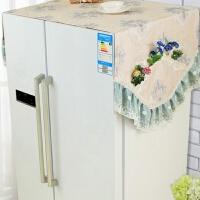 现代双开门冰箱防尘罩盖巾海尔冰箱套罩盖布防尘布对开门大冰箱罩