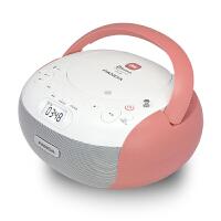 熊猫CD-306蓝牙CD机播放机学生用发烧家用复读机英语音响便携台式一体机光碟机收音机插卡光盘播放器 红色