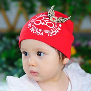 Yinbeler胎帽婴儿帽子3-6-12-24个月宝宝帽春秋冬男女儿童帽子幼儿帽子单车天使