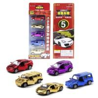 土豪金1:64悍马路虎奔驰兰博电镀合金车模型儿童玩具回力车