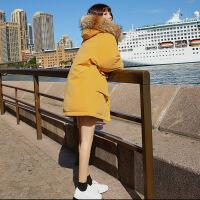 羽绒女中长款2018冬新款韩版宽松学生面包服ins加厚棉袄外套