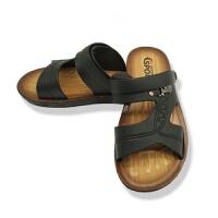 凉鞋男夏季防水防滑沙滩鞋男士两用耐磨凉拖鞋仿牛皮