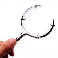 OUJIN 白俄罗斯放大镜 月牙形仿古金属放大镜 手持阅读看报放大镜 珠宝玉石古字画鉴定