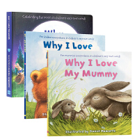 英文原版低幼亲情启蒙绘本3册 Why I Love系列 My Daddy/mummy/the Moon BB为什么我爱