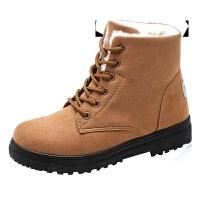 棉鞋女冬季新款韩版厚底短靴女学生鞋子棉靴加绒保暖大码雪地靴女