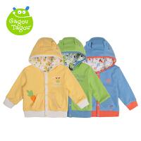 【加拿大童装】Gagou Tagou婴幼儿男女宝宝秋冬纯棉双面穿带帽上衣外套外出服