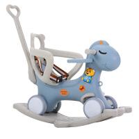 儿童摇马摇椅两用带音乐多功能小推车婴儿塑料玩具宝宝木马
