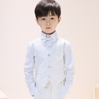 儿童礼服套装花童小主持人钢琴演出服男童走秀表演小男孩马甲春款