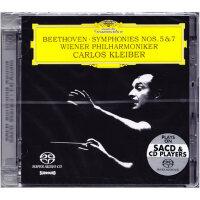 进口CD 贝多芬 第五命运/第七交响曲 克莱伯 SACD 发烧古典音乐
