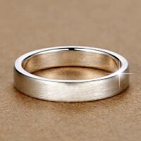 戒指 男士 女士情侣足银戒子 单身指环 拉丝