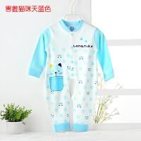 婴儿连体衣春秋季男女宝宝婴幼儿长袖纯棉睡衣新生儿衣服