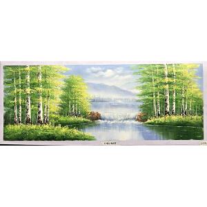 风景油画作品  70X180-032