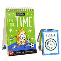 Flip Flap Fun Tell The Time 儿童翻翻乐英语认知时间闪卡 英文原版图书进口