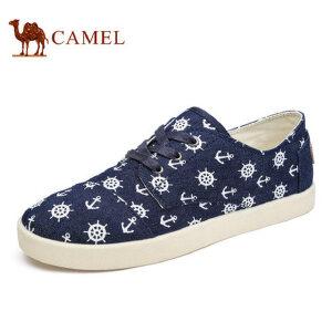 camel骆驼男鞋 低帮鞋帆布鞋 日常休闲个性帆布印花板鞋