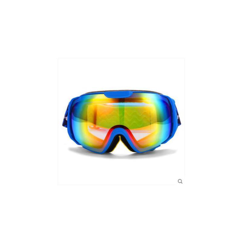 时尚彩色美观大方百搭偏光镜男女可卡近视滑雪镜双层防雾大球面滑雪眼镜 品质保证,支持货到付款 ,售后无忧