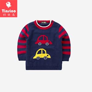 纤丝鸟(TINSINO)儿童毛衣男女童针织衫宝宝加厚上衣