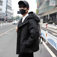 羽绒服男冬季新款男士短款连帽加厚宽松羽绒外套韩版潮流帅气男装