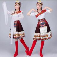 民族服装开场舞裙蒙古舞裙蒙族服装演出服 新款藏服藏族舞蹈演出服女