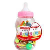 美贝乐0-1岁婴儿玩具大奶瓶牙胶摇铃 宝宝益智手摇铃组合套装