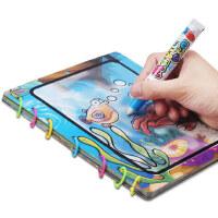 怀乐3-6岁宝宝玩具清水涂鸦水画册学习卡片儿童填色图画画本拓画