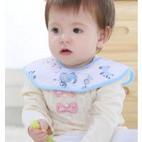 阳光菊 纯棉婴儿八角围嘴 宝宝口水巾 围兜 大码