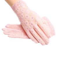 防晒手套女夏季蕾丝薄短款防晒防滑薄款开车骑车手套
