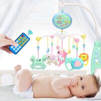 育儿宝 床铃 新生婴幼儿0-3个月宝宝牙咬摇铃6-12个月音乐旋转多功能远程遥控儿童玩具用品