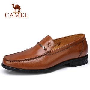 camel 骆驼男鞋2018春季新品柔软轻便套脚男鞋舒适商务正装皮鞋