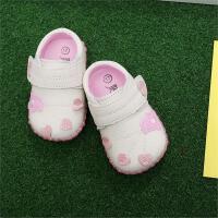 宝宝学步鞋单鞋0-1-2岁牛皮软底皮鞋男女防滑婴儿鞋春秋透气鞋子