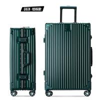 行李箱女旅行箱男万向轮20墨绿色拉杆箱包28韩版学生密码箱子24寸