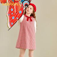 【3件4.5折:121.1】巴拉巴拉儿童公主裙女童连衣裙春装2021新款童装中大童精致格纹甜