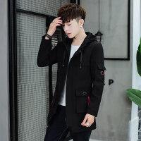 男士外套春秋季新款韩版潮流帅气中长款风衣男装薄款休闲夹克衣服