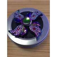 新款带钻石的陀螺 两叶/四叶飞翼炫彩陀螺 个性私模 特别炫爆款陀螺