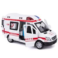儿童救护车玩具120救护车模型仿真合金车模