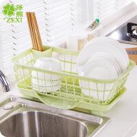 多功能置物沥水篮碗柜架碗碟滴水收纳架餐具整理收纳沥水架