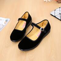 老北京布鞋女鞋平跟单鞋黑色礼仪布鞋软底酒店工作鞋广场跳舞鞋