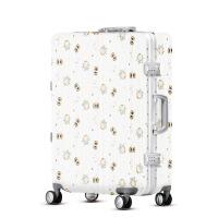2018新款时尚涂鸦拉杆箱suitcase登机行李箱万向轮旅行箱密码箱