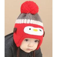 男女童帽子 宝宝韩版潮帽 婴儿毛线帽球球帽针织帽儿童帽子卡通宝宝女童加厚韩国