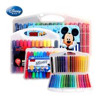 【全场满100减40】迪士尼12色24色36色水溶性油画棒丝滑炫彩棒儿童绘画旋转式可水洗彩笔蜡笔